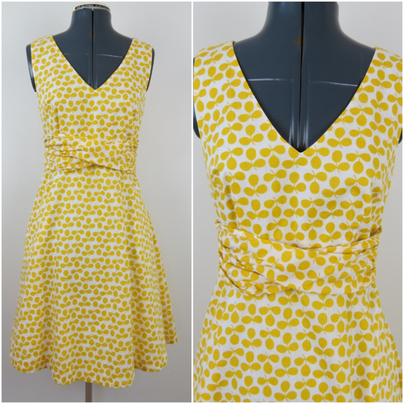 844ce4869dc Boden Dresses & Skirts - Boden | Yellow Clover Leaf Lois Dress A5